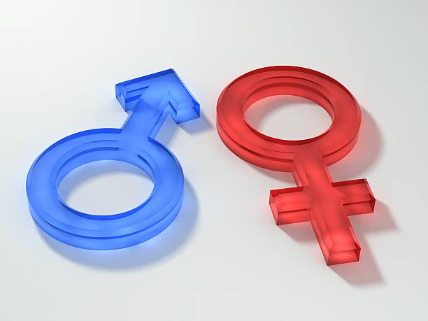 Homem mulher símbolos - foto de acervo