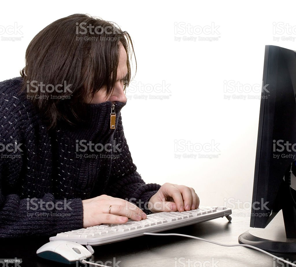 man work with comp royalty-free stock photo