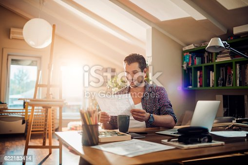 istock Man working at home 622183414