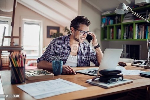 istock Man working at home 623119448