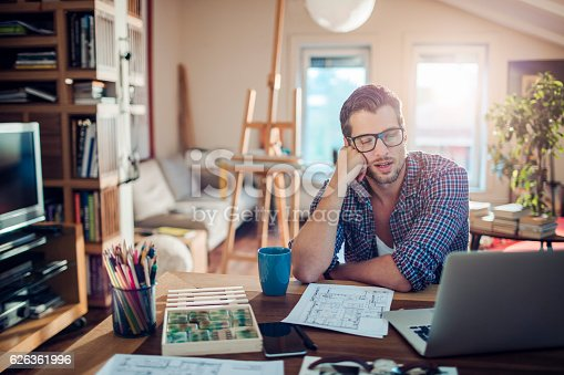 istock Man working at home 626361996