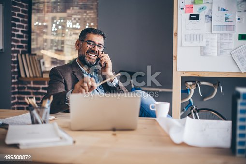 istock Man working at modern office. 499508872