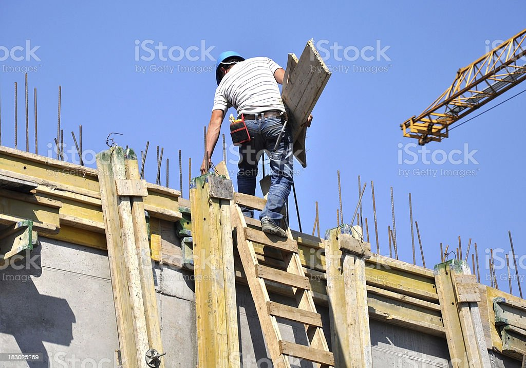 man working at the construction site royalty-free stock photo