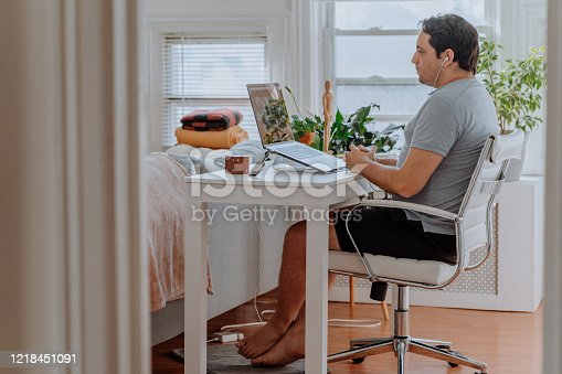 Man working from home during corona time