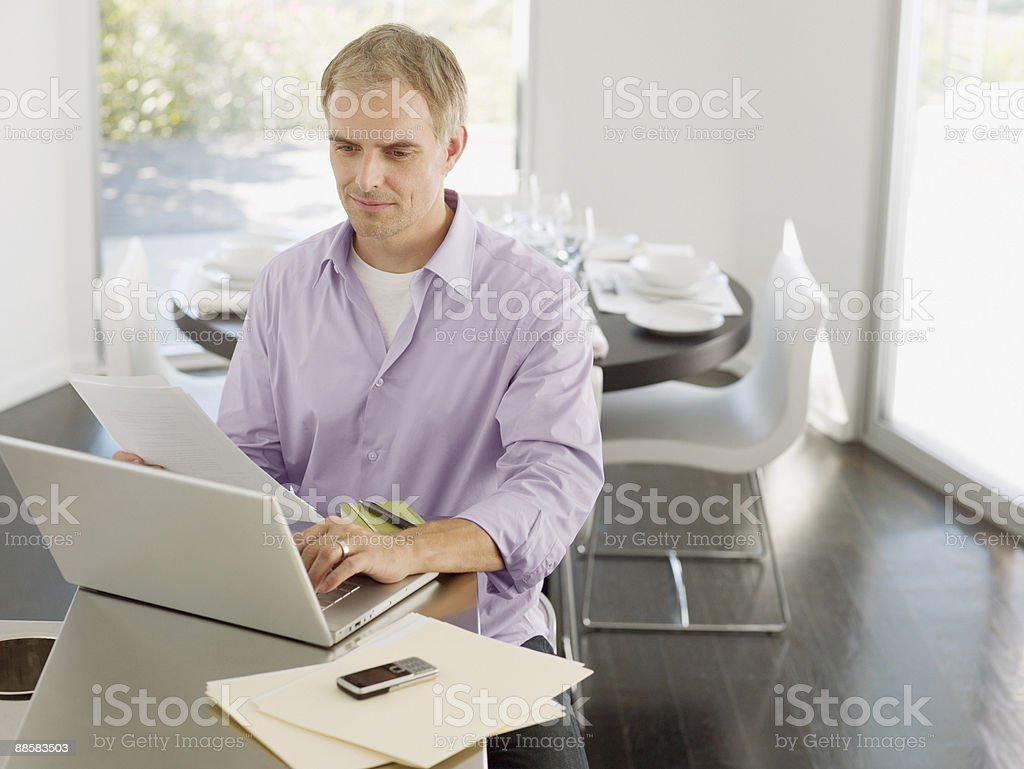 Man working from home royalty-free stock photo
