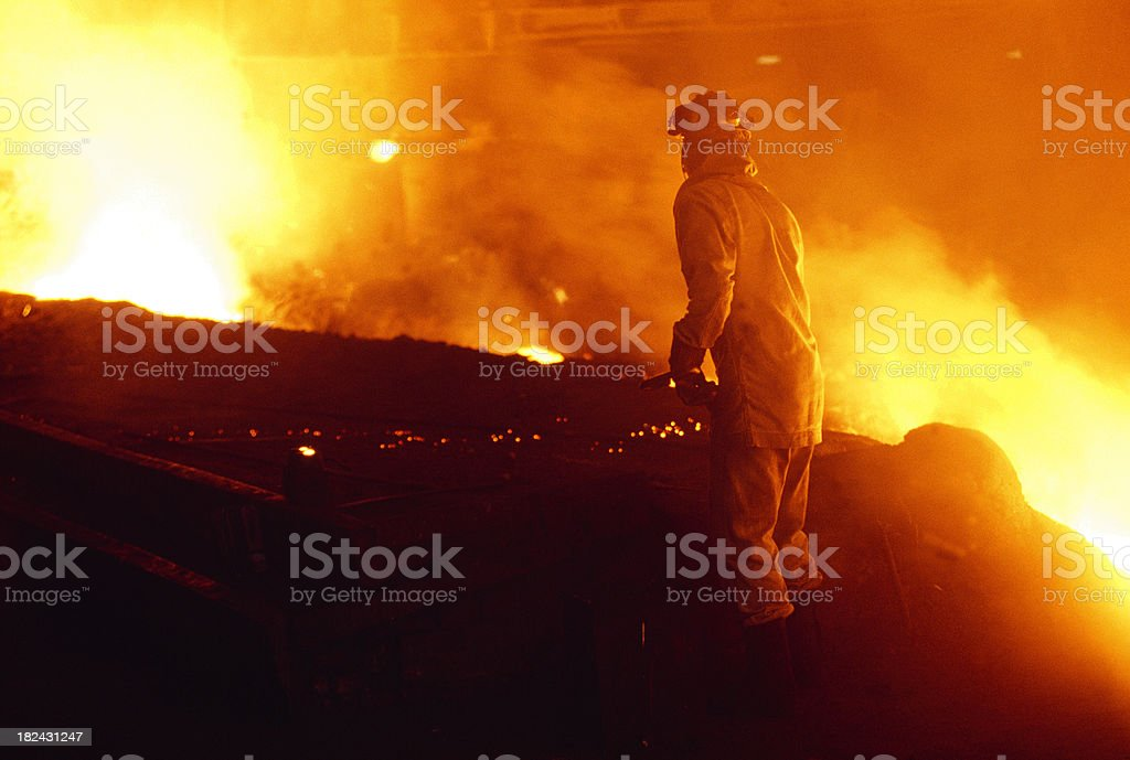 Man Working in a Foundry royalty-free stock photo
