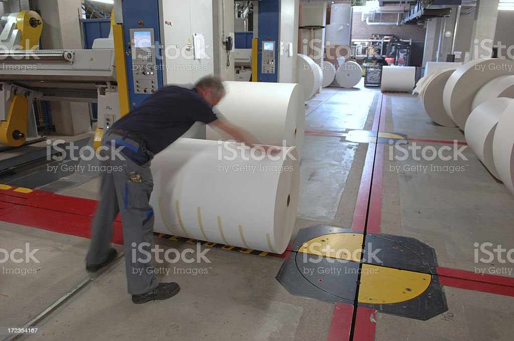 Man working in a printing office #9 royalty-free stock photo