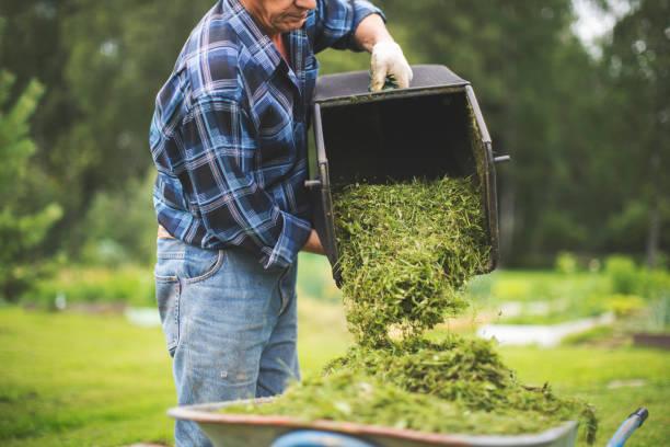 Mann arbeitet im Garten – Foto