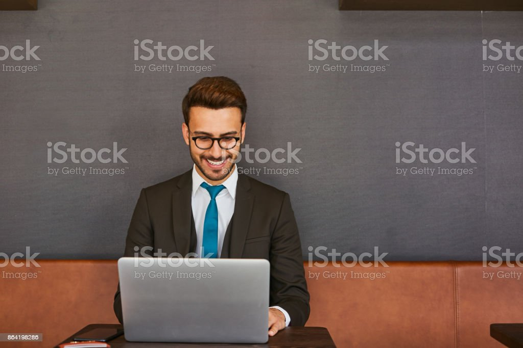 Man working in home office royalty-free stock photo