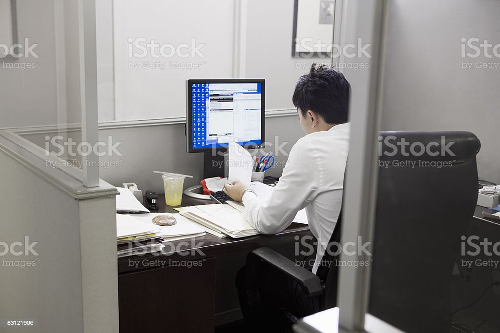 man working in office royaltyfri bildbanksbilder