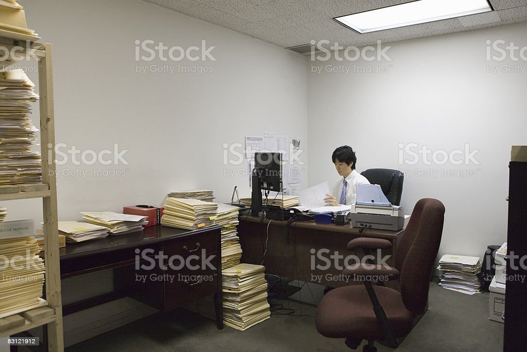 man working in office royalty free stockfoto