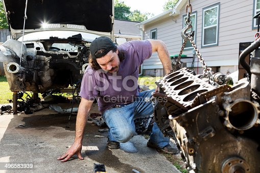 498879174 istock photo Man Working on a Car 496583939