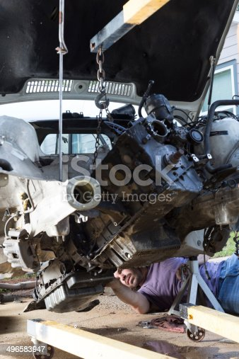 498879174 istock photo Man Working on a Car 496583947