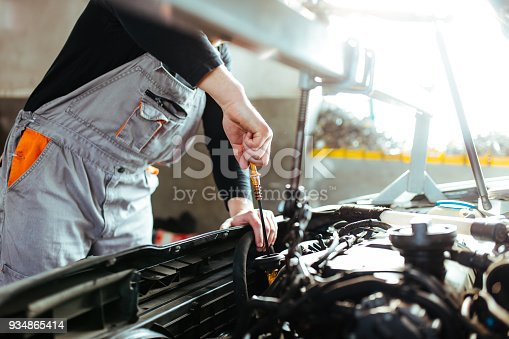 673723668 istock photo Man working on a car 934865414