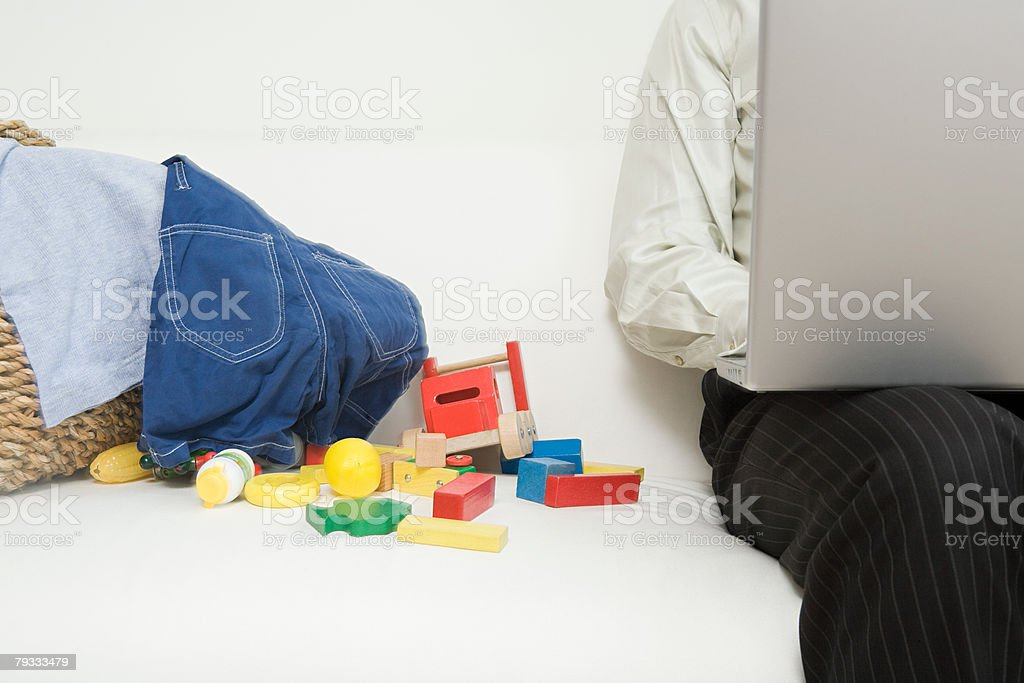 A man working on a laptop 免版稅 stock photo
