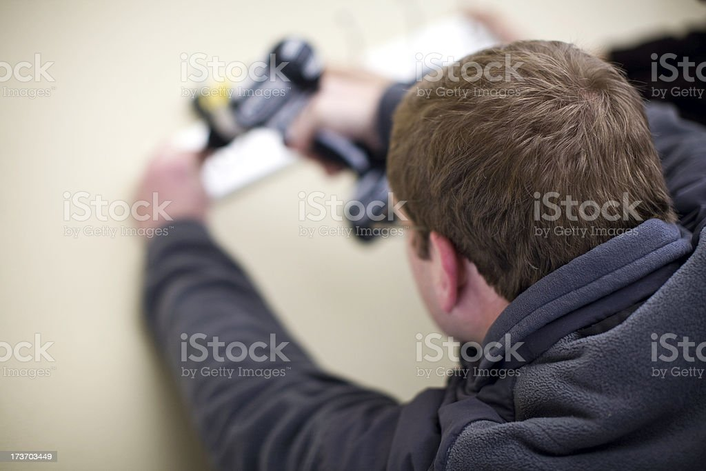 Man Working on  Home Improvement royalty-free stock photo