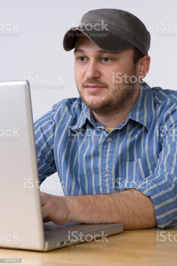 Man working on Laptop royalty-free stock photo