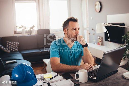 istock Man working on laptop 624128428