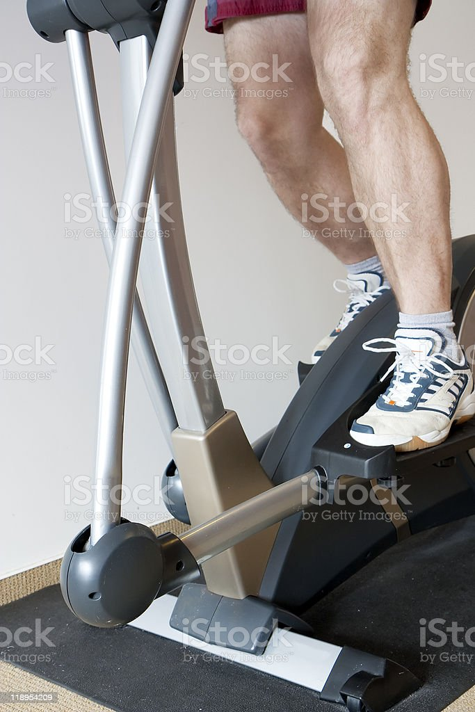 Man working out royalty-free stock photo