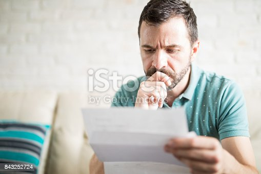 istock Man worried about his monthly payments 843252724