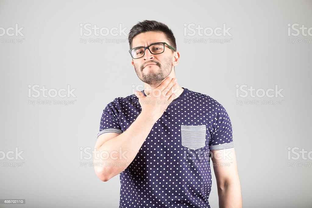 Man worrying about unshaven face royalty-free stock photo