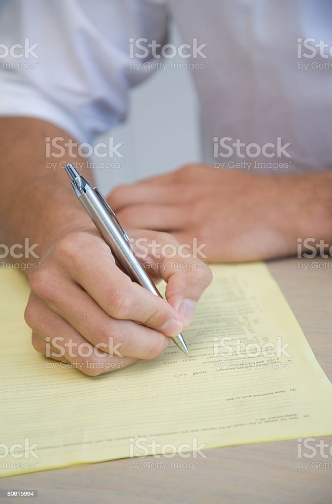 Man writing 免版稅 stock photo