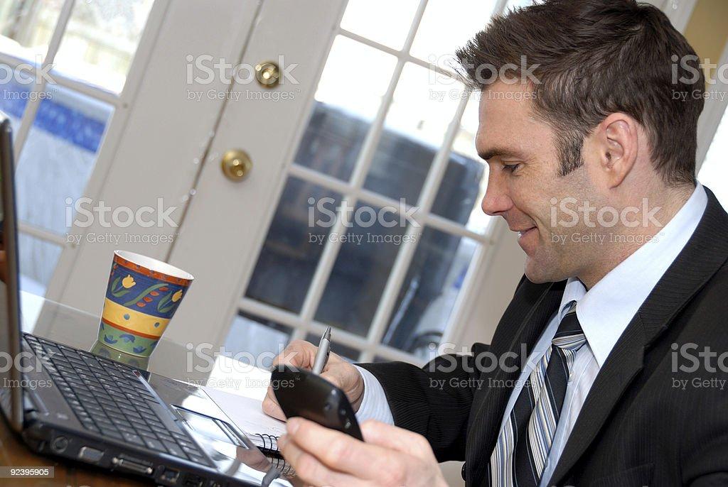 Man writing royalty-free stock photo