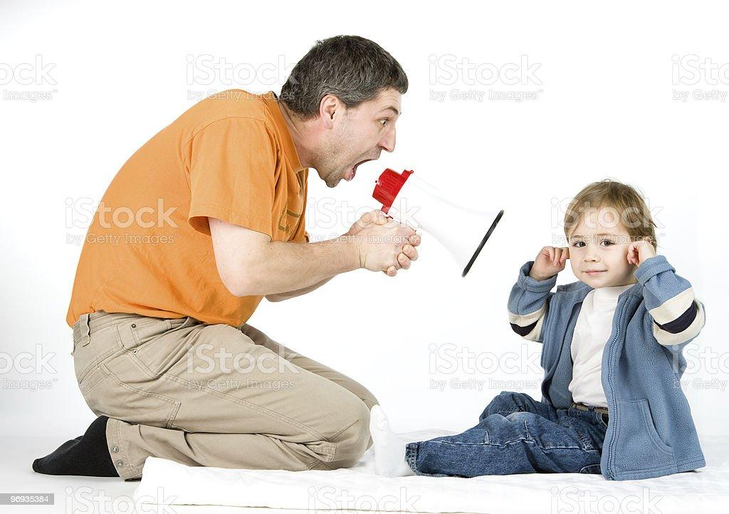 Man yelling at boy royalty-free stock photo