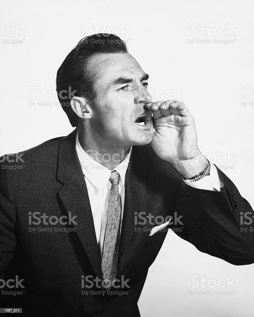 Man yelling royalty-free stock photo