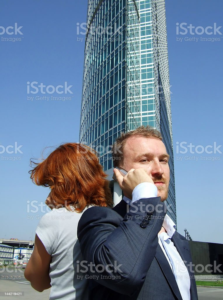 man_at_office_building royalty-free stock photo