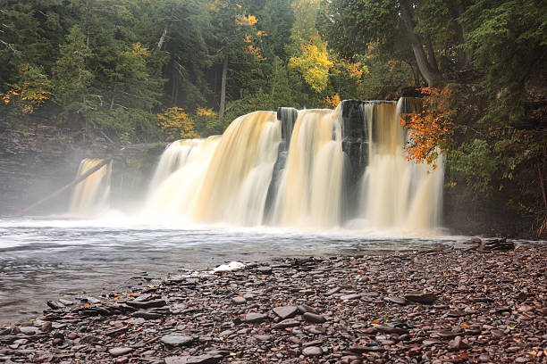 Manabezho Falls on the Presque Isle River, Michigan