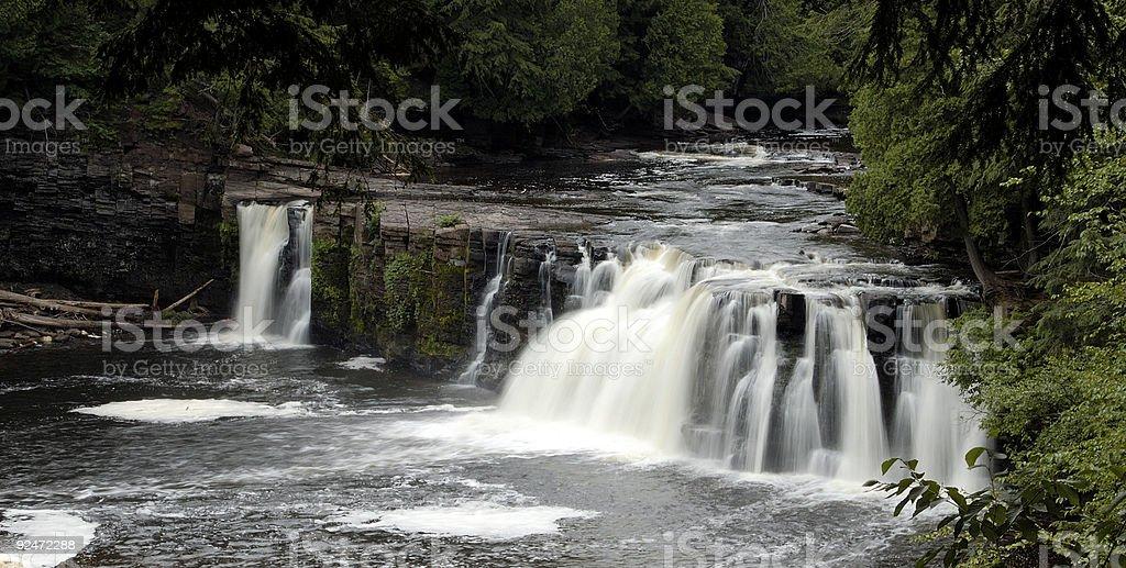 Manabezho Falls royalty-free stock photo