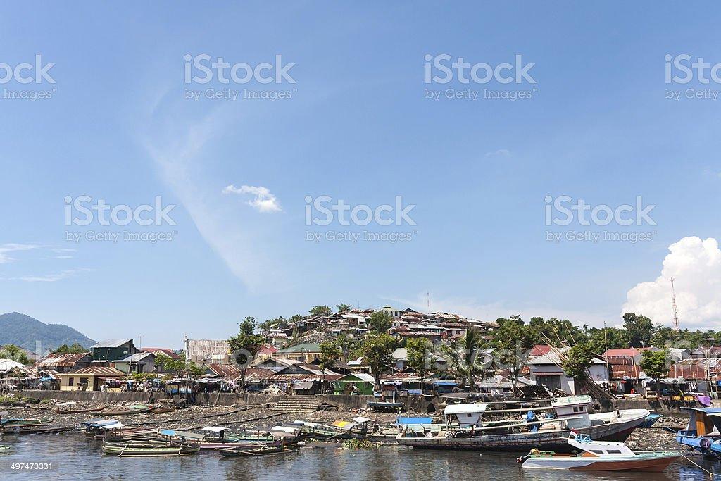 Manado riverbank stock photo