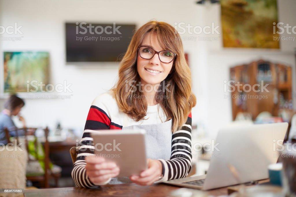 Manage my coffee shop stock photo
