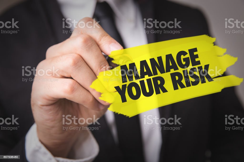 Manage Your Risk stock photo
