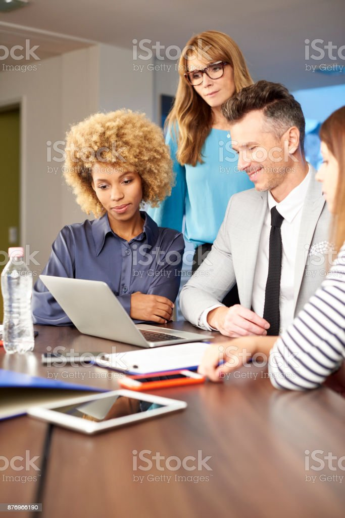 Management consulting at the office stock photo
