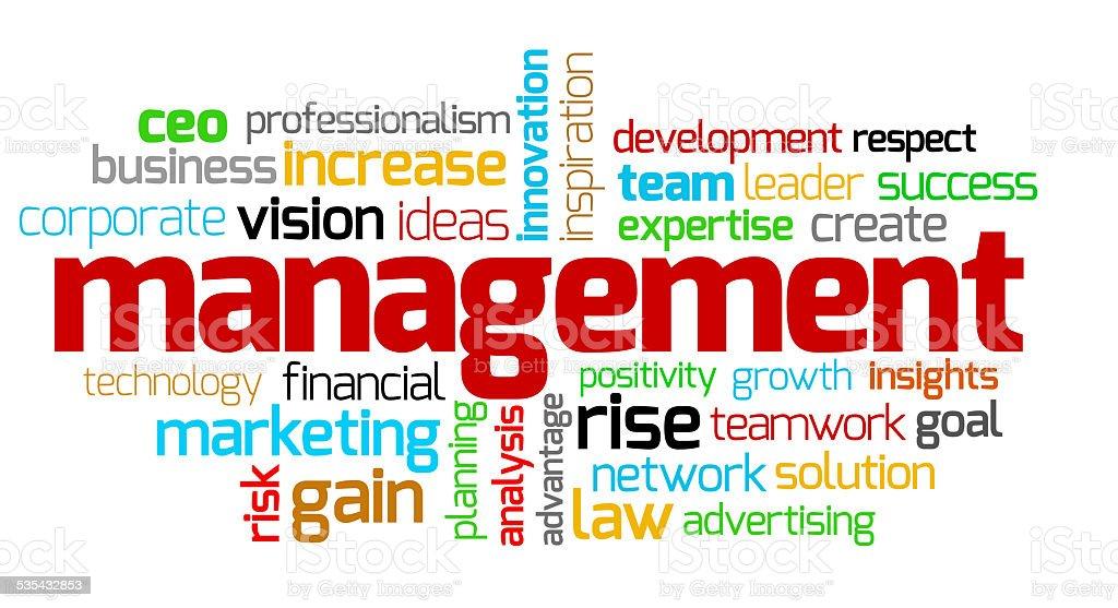 Management keywords stock photo