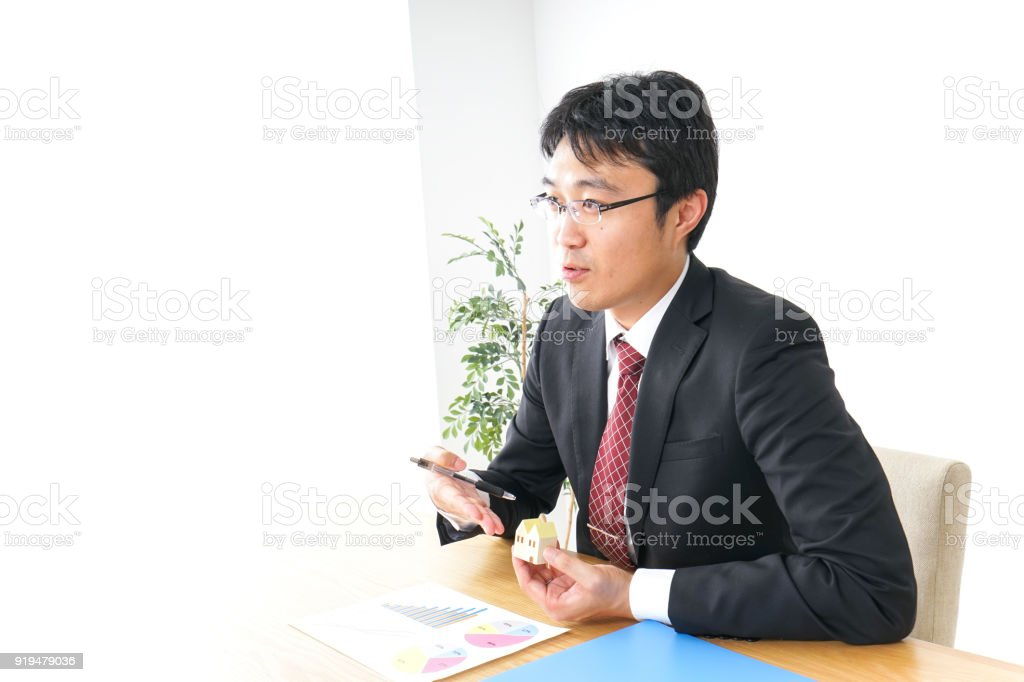 management of business in real estate stock photo