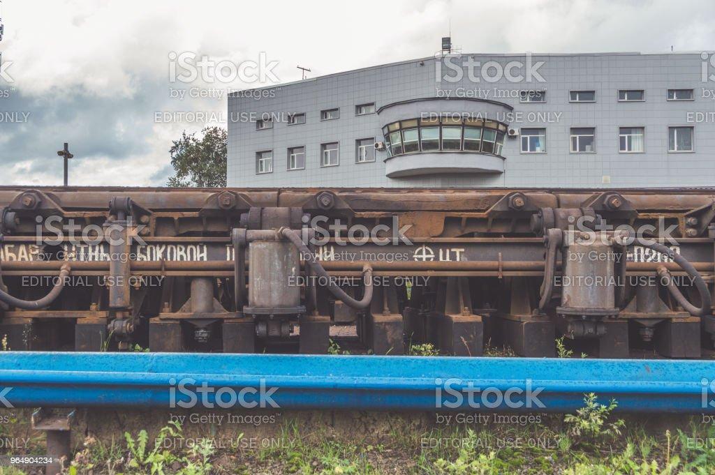 管理鐵路貨運列車的解散, 形成新的貨車。 - 免版稅下降圖庫照片