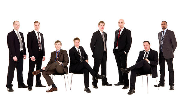 Management team Group of management men isolated on white background governing board stock pictures, royalty-free photos & images