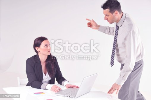 463813207 istock photo Manager angry at his secretary 179249786