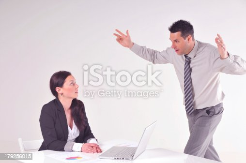 463813207 istock photo Manager angry at his secretary 179256015