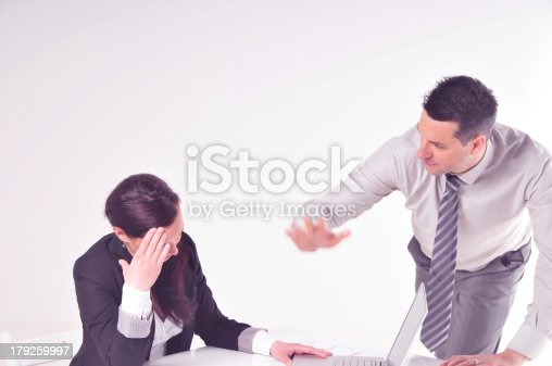 463813207 istock photo Manager angry at his secretary 179259997