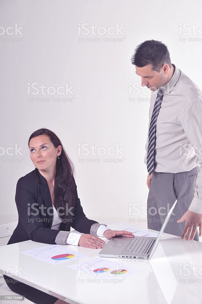 Manager angry at his secretary royalty-free stock photo