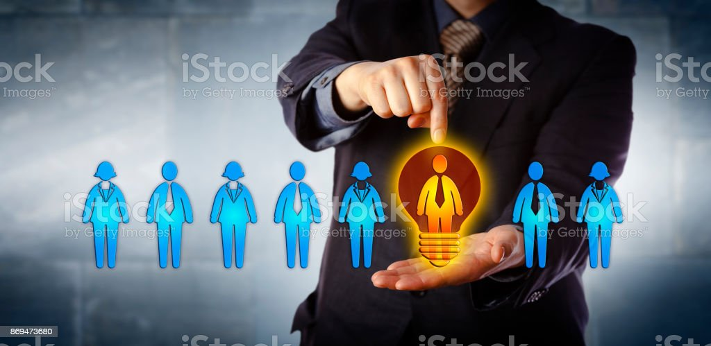 Manager Appointing The Brightest Candidate stock photo