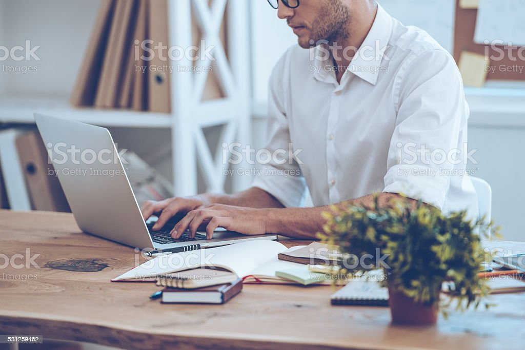 Manager at work. stock photo