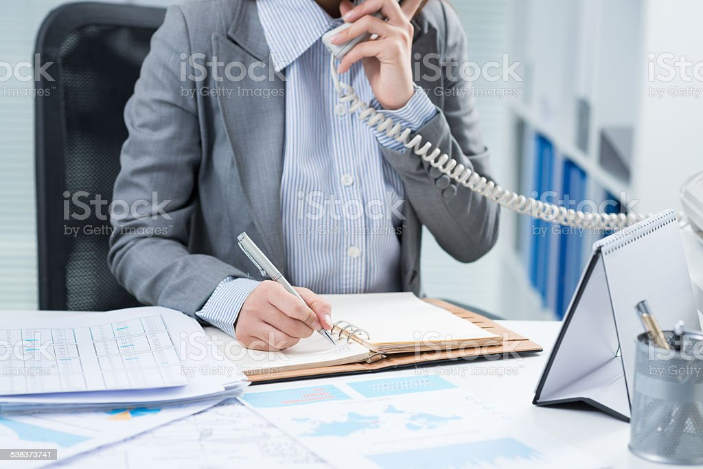 Manager at work stock photo