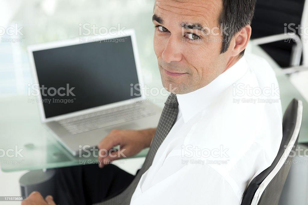 Manager at workplace stock photo