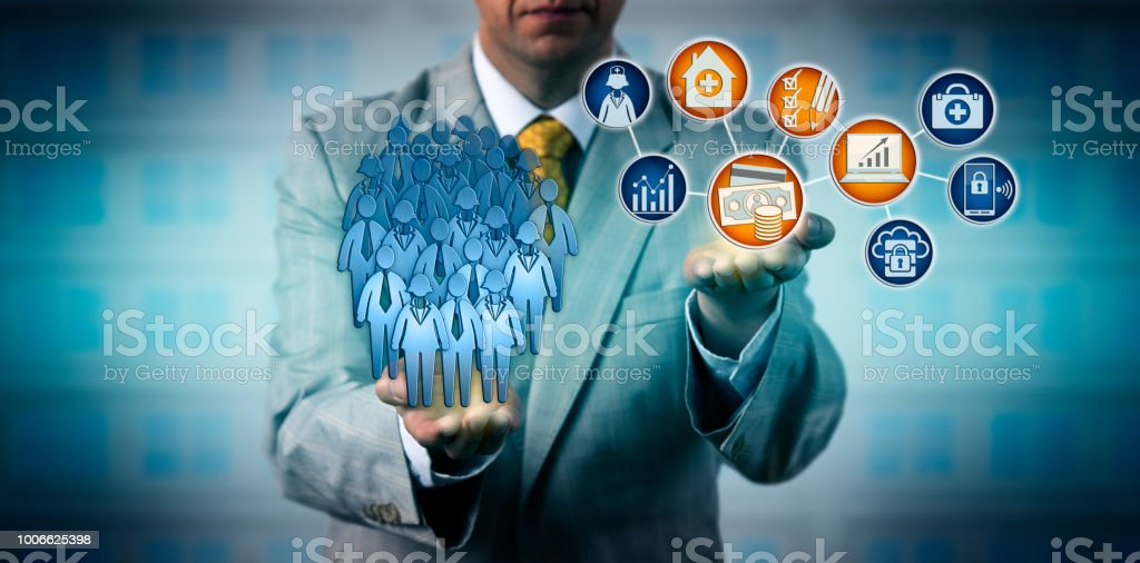 Manager Auditing Value-Based Health Care stock photo