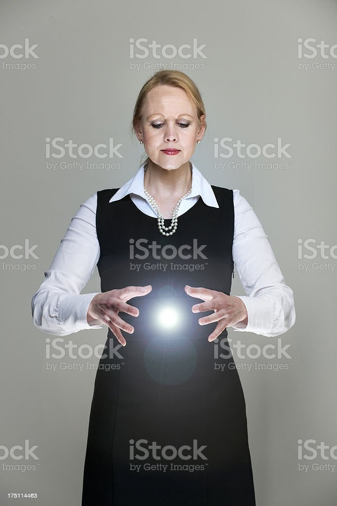 manager balancing power stock photo
